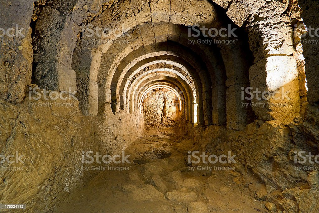 Underground tunnel royalty-free stock photo