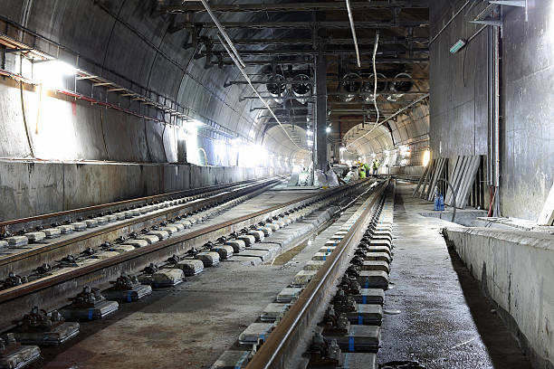 Underground tunnels stock photo