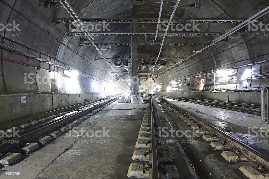 Underground Tunnels royalty-free stock photo