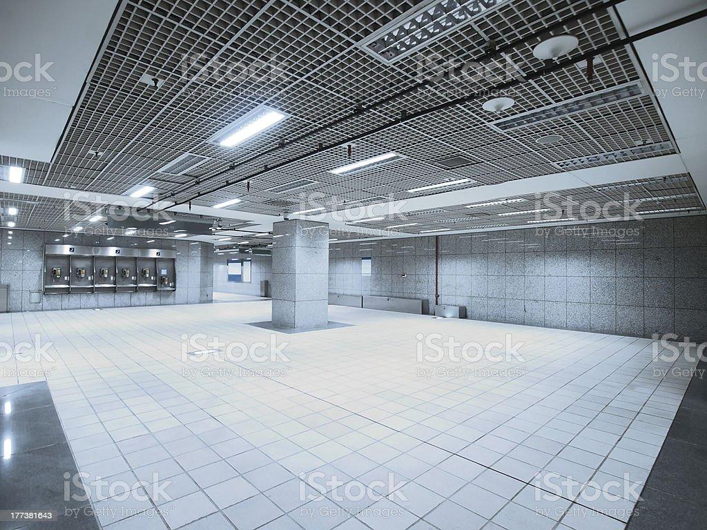 Underground walkway stock photo