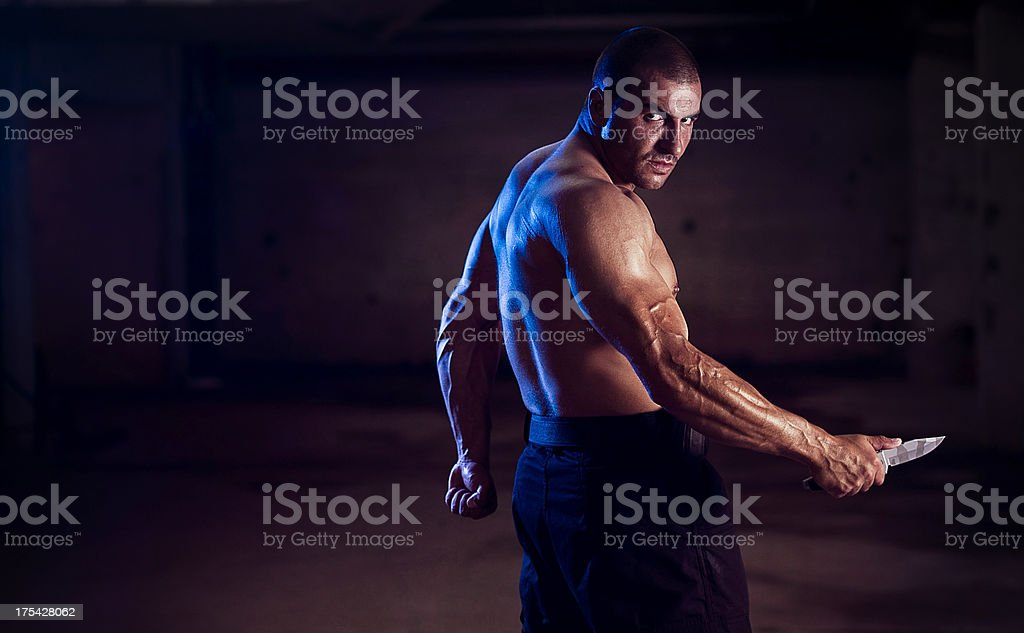 Underground Warrior stock photo