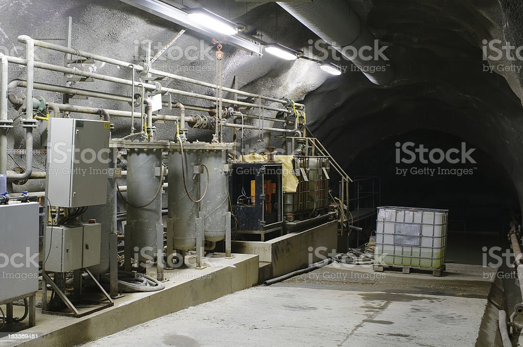 Underground water treatment station royalty-free stock photo