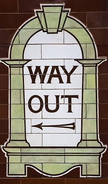 Underground Way Out stock photo