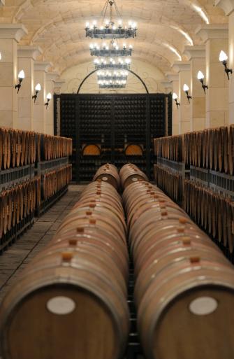 Old style underground wine cellar