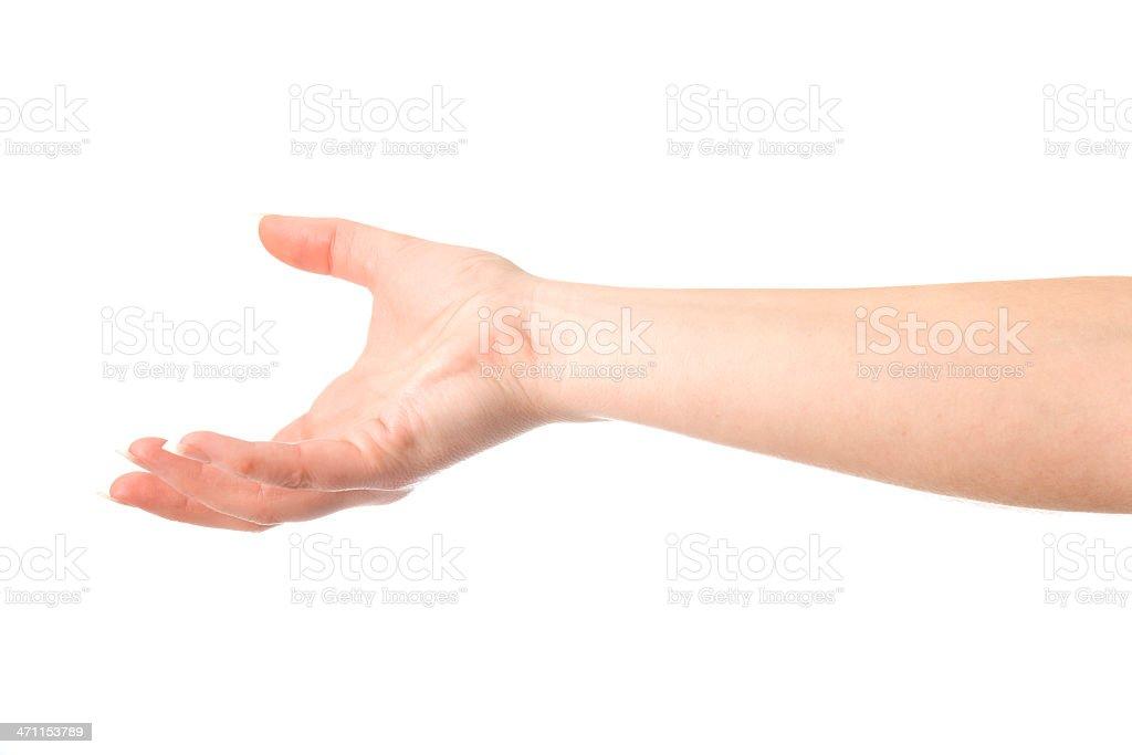 Underhand Throw stock photo