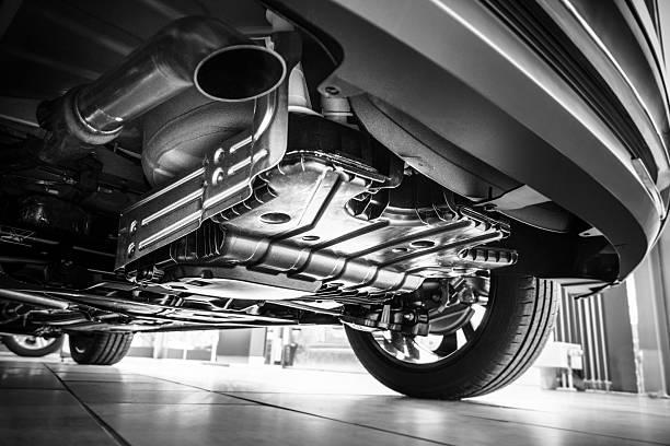 Underneath a car stock photo