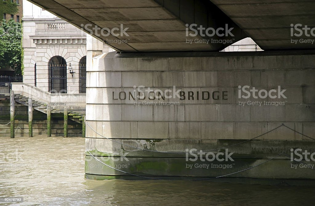 Underneath London Bridge - London, England royalty-free stock photo
