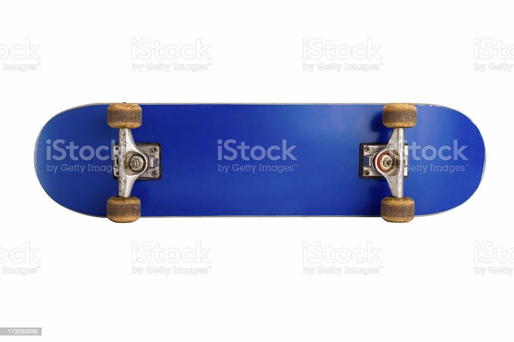Underneath side of a Blank Skateboard stock photo