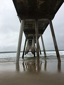 Underneath the pier on a winter morning