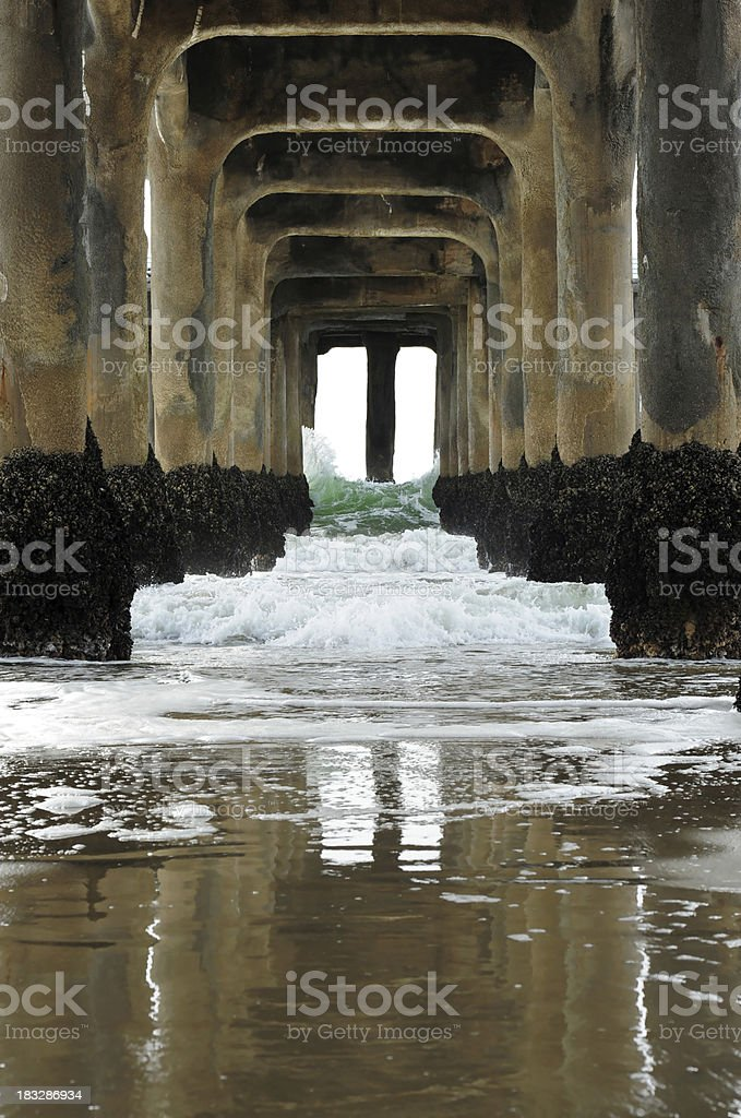 Underneath the pier royalty-free stock photo