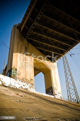 Underneath the Sixth Street Viaduct
