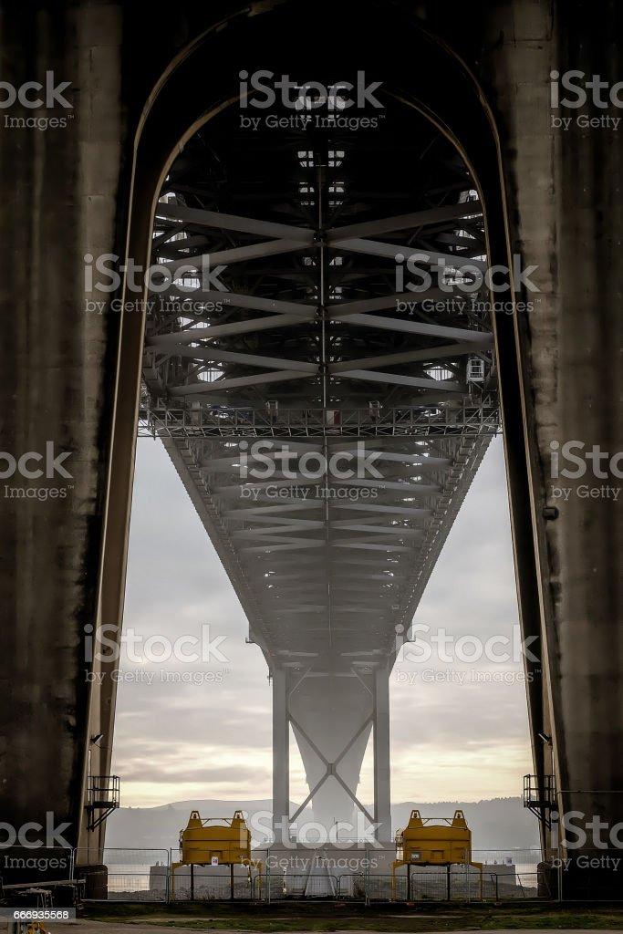 Underneath View of a bridge stock photo