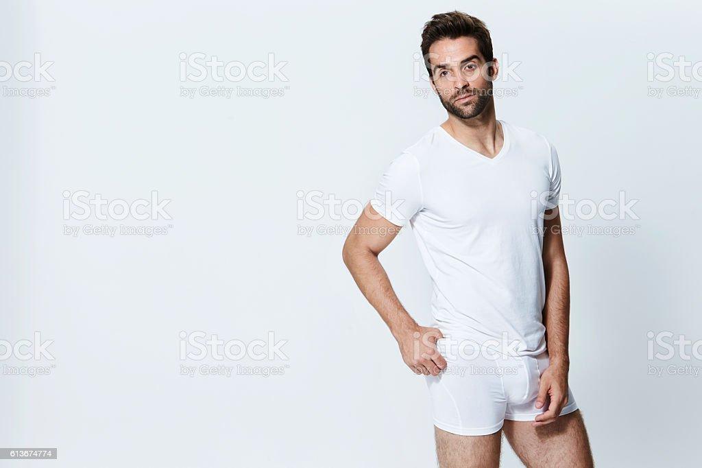 Underpants posing – Foto