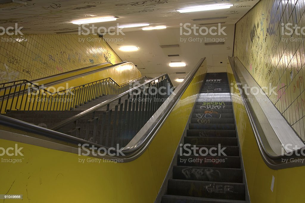 Underpass in East Berlin royalty-free stock photo