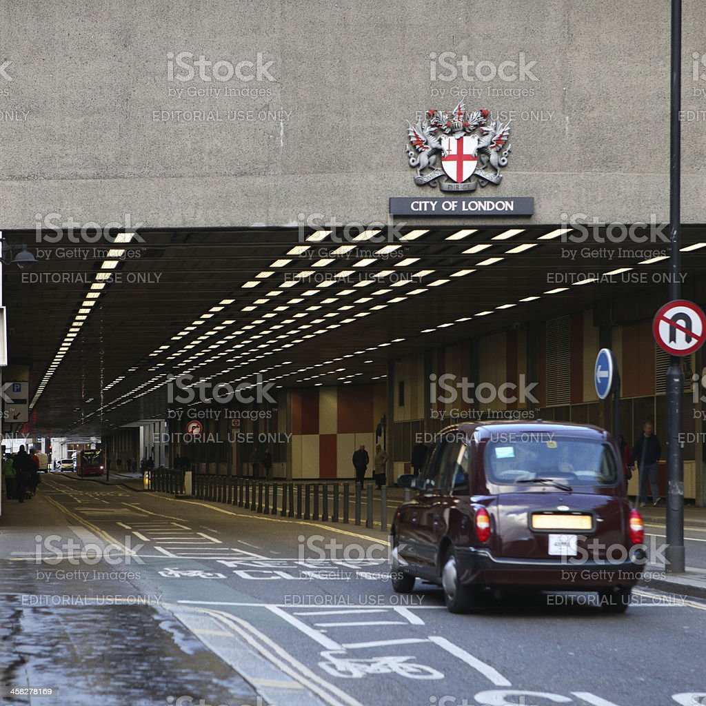 underpass in London royalty-free stock photo