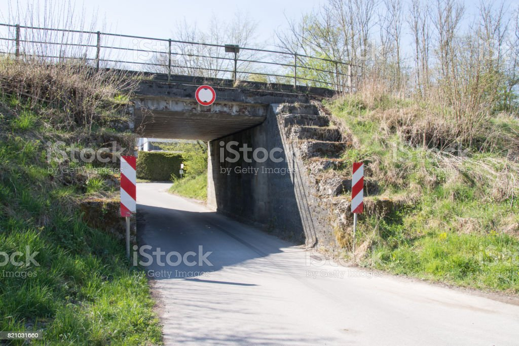 Underpass of a track system; stock photo