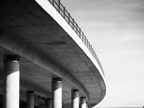 under the Flyover, the highway Bridge in Germany.