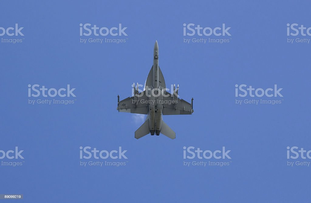Underside of an F18 stock photo