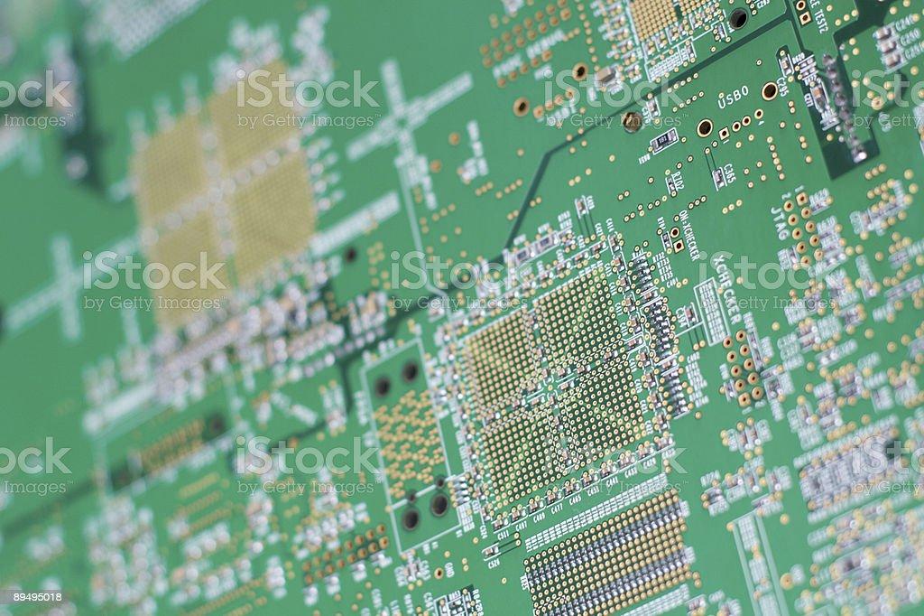 Retro della scheda di circuito computer foto stock royalty-free
