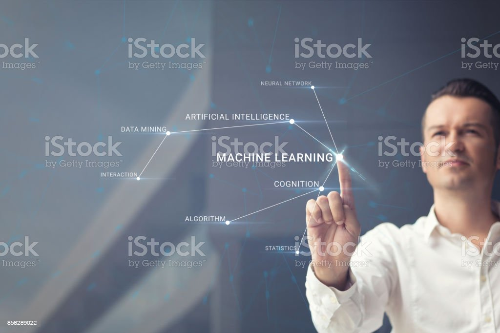 Understanding artificial intelligence. stock photo