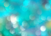Cyan turquoise colorful gradient watercolor background.Blue bright holiday shine bokeh abstract backdrop.