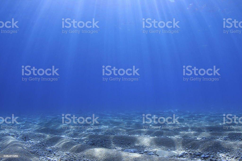 Underwater background in sea stock photo