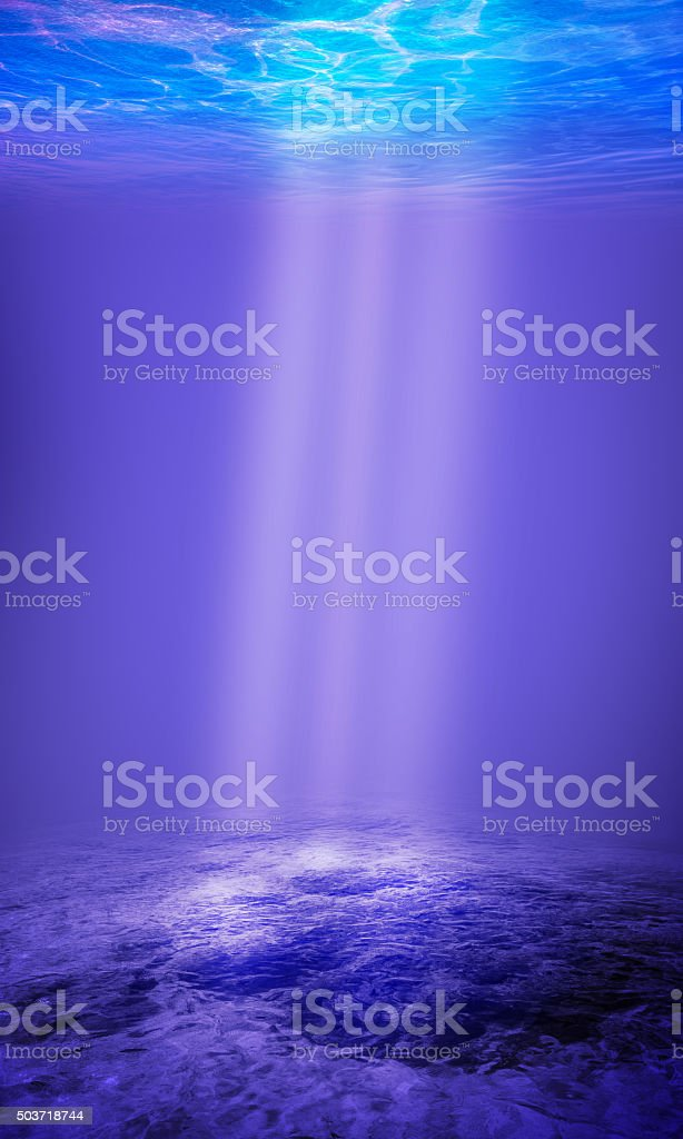 Underwater Background in the Sea stock photo