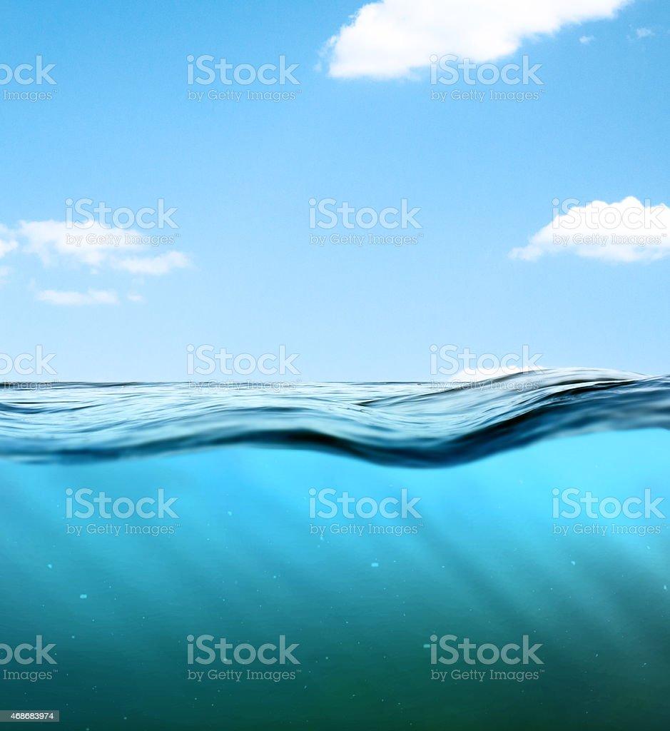 Underwater background. stock photo