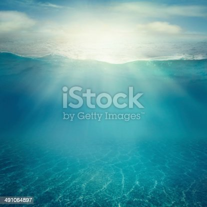 istock Underwater background 491064897