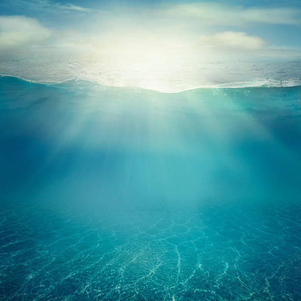 underwater background - water surface stock photos and pictures