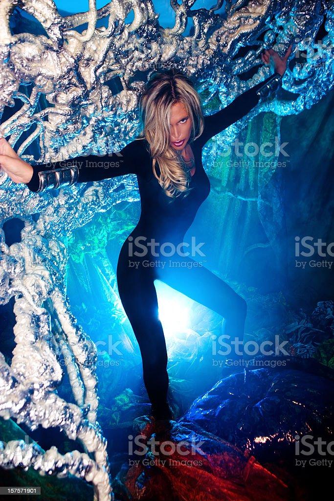 Underwater de belleza - foto de stock