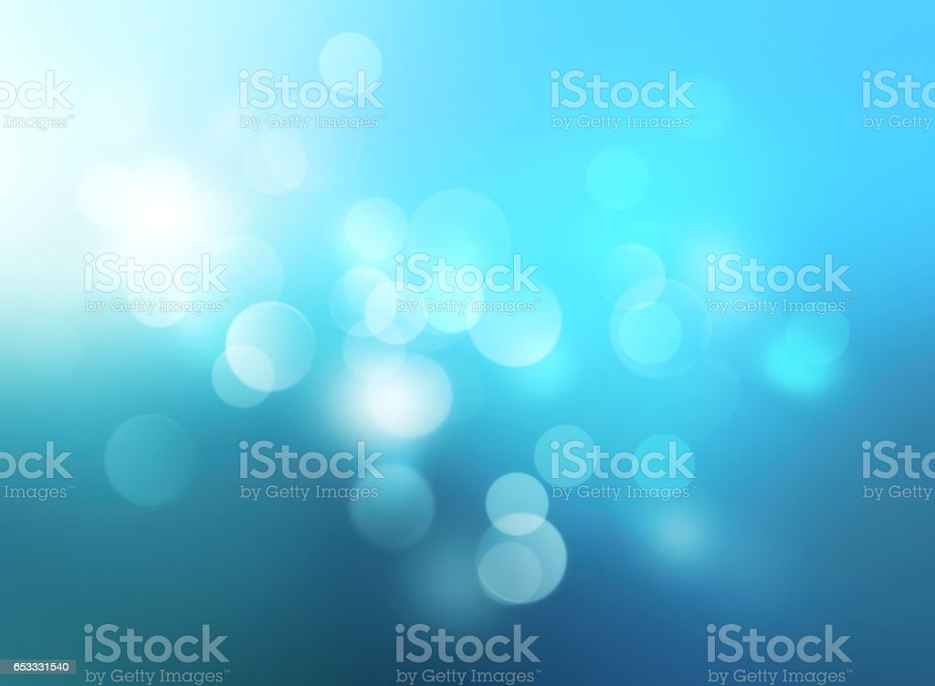 Underwater blue blurred background.Winter xmas backdrop.