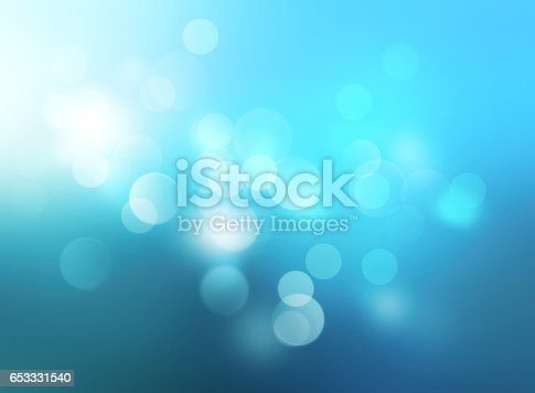653331540 istock photo Underwater blue blurred background.Winter xmas backdrop. 653331540