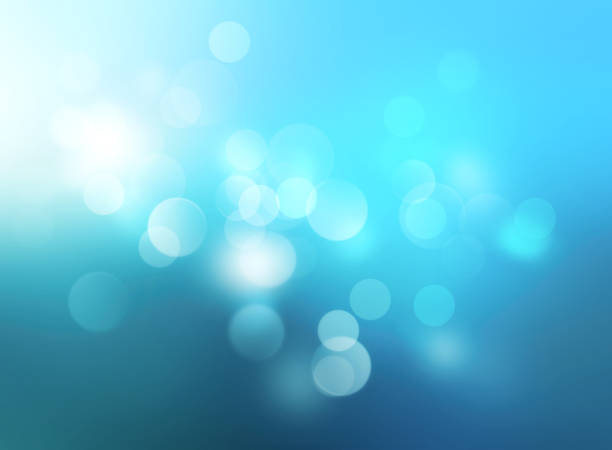 Underwater blue blurred background.Winter xmas backdrop. - foto stock