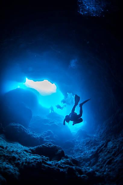 Grotte sous-marine - Photo