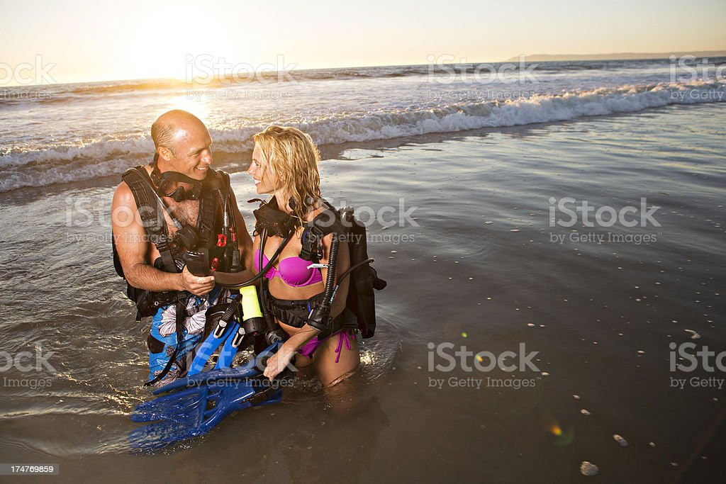 Underwater divers royalty-free stock photo