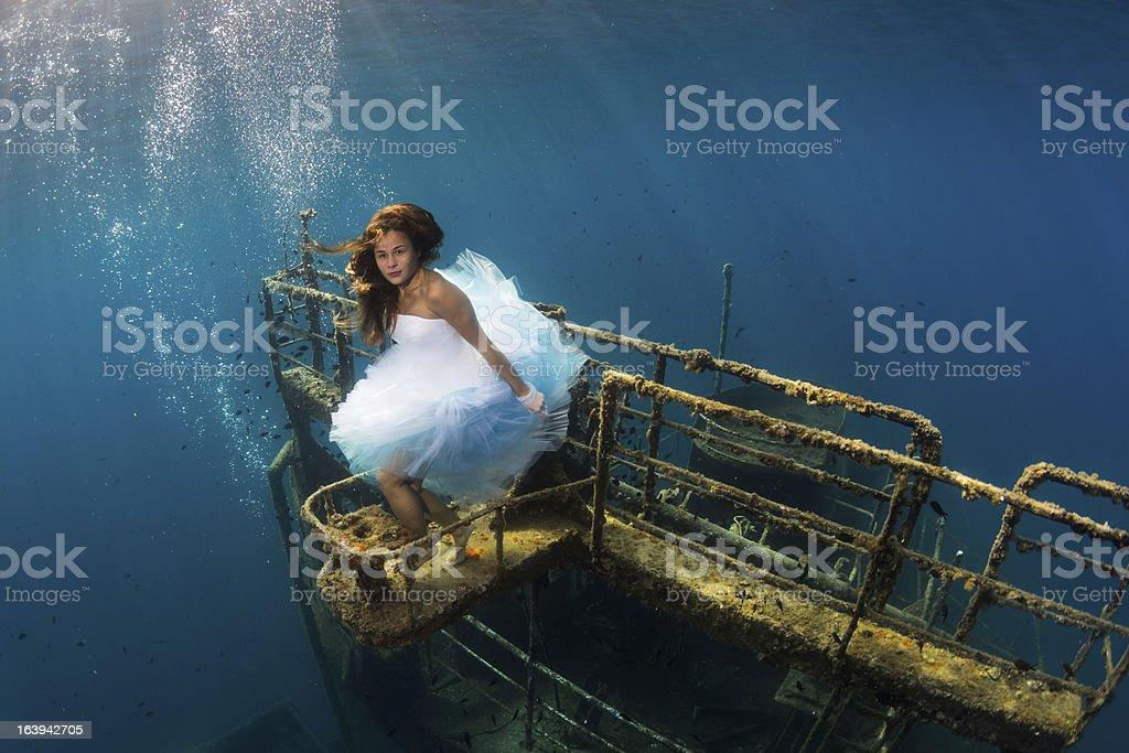 Underwater girl royalty-free stock photo