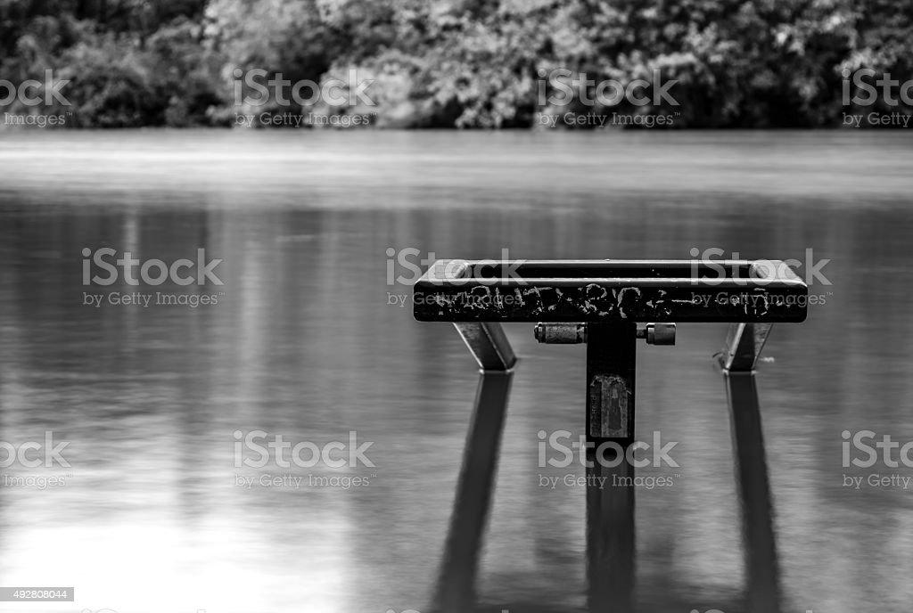 Underwater Handrail After Flood stock photo