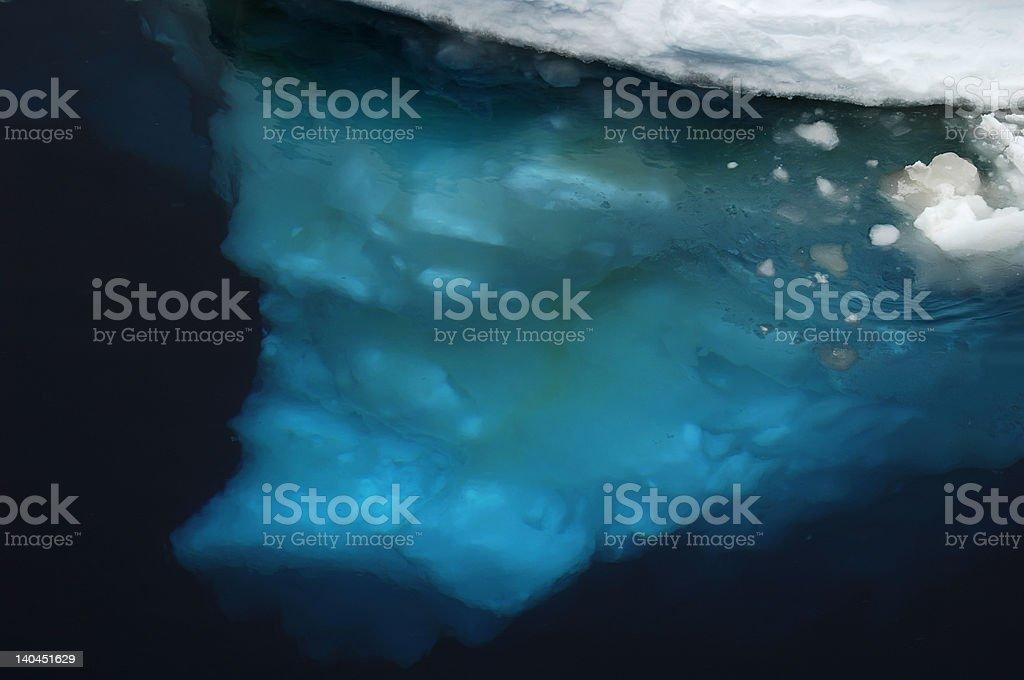 Underwater ice stock photo