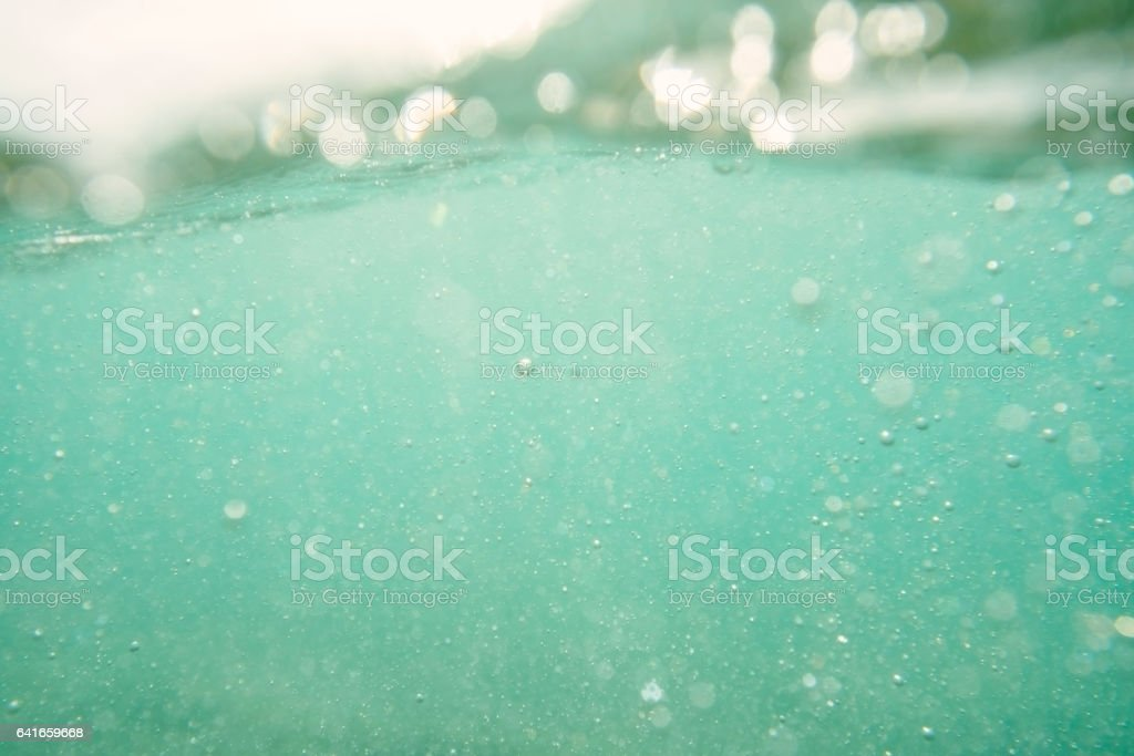 Underwater in the clear South Cornish sea at Porthcurno. stock photo