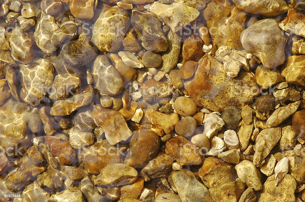 underwater pebbles royalty-free stock photo