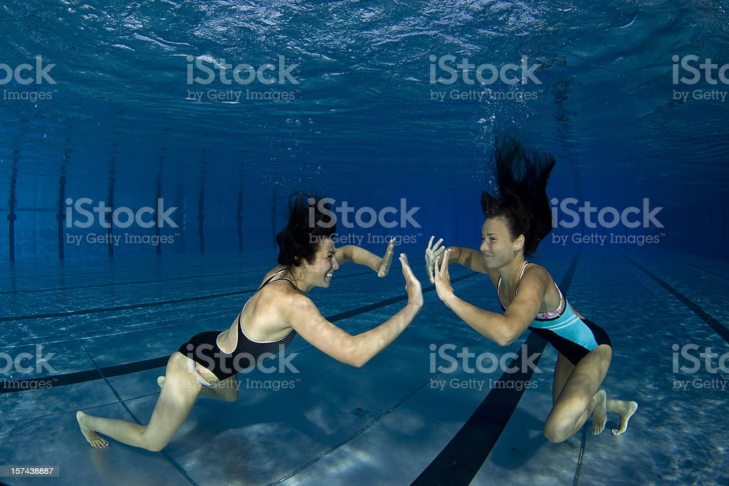 Underwater performance royalty-free stock photo