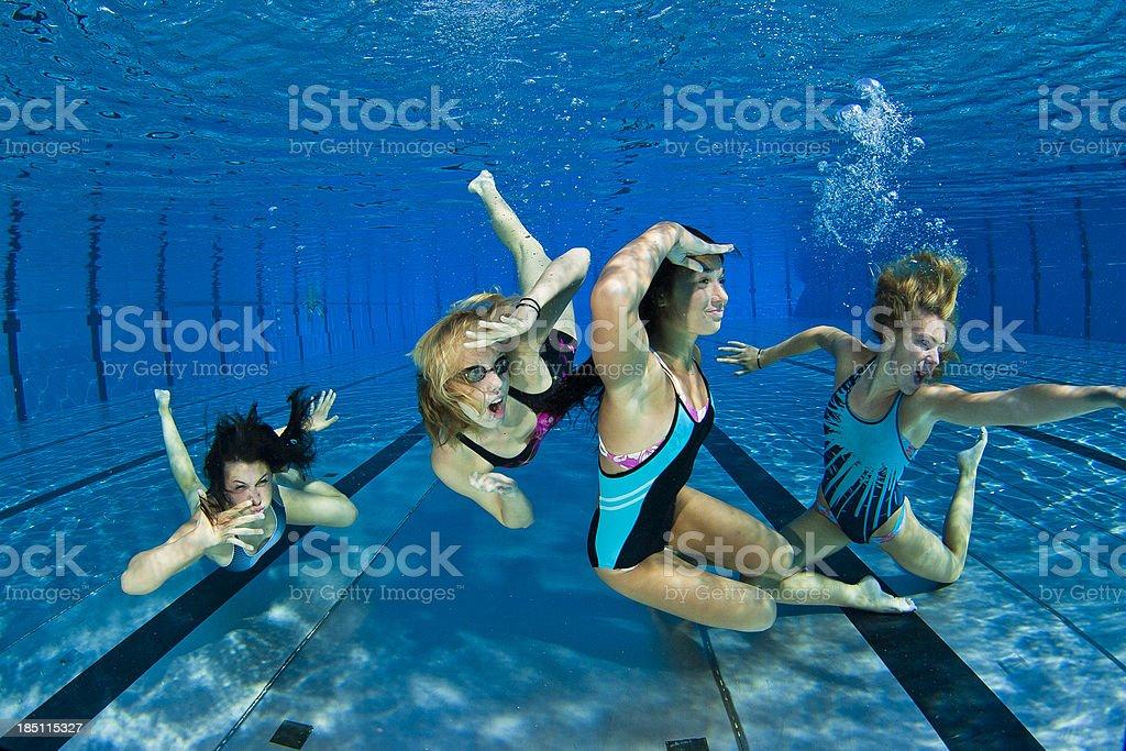Underwater performance royalty-free stock photo