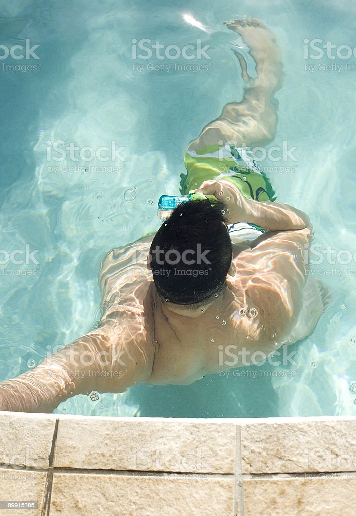Underwater Photography in Swimming Pool royalty-free stock photo