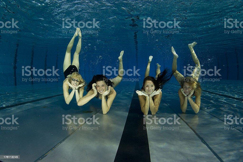 Underwater posing royalty-free stock photo