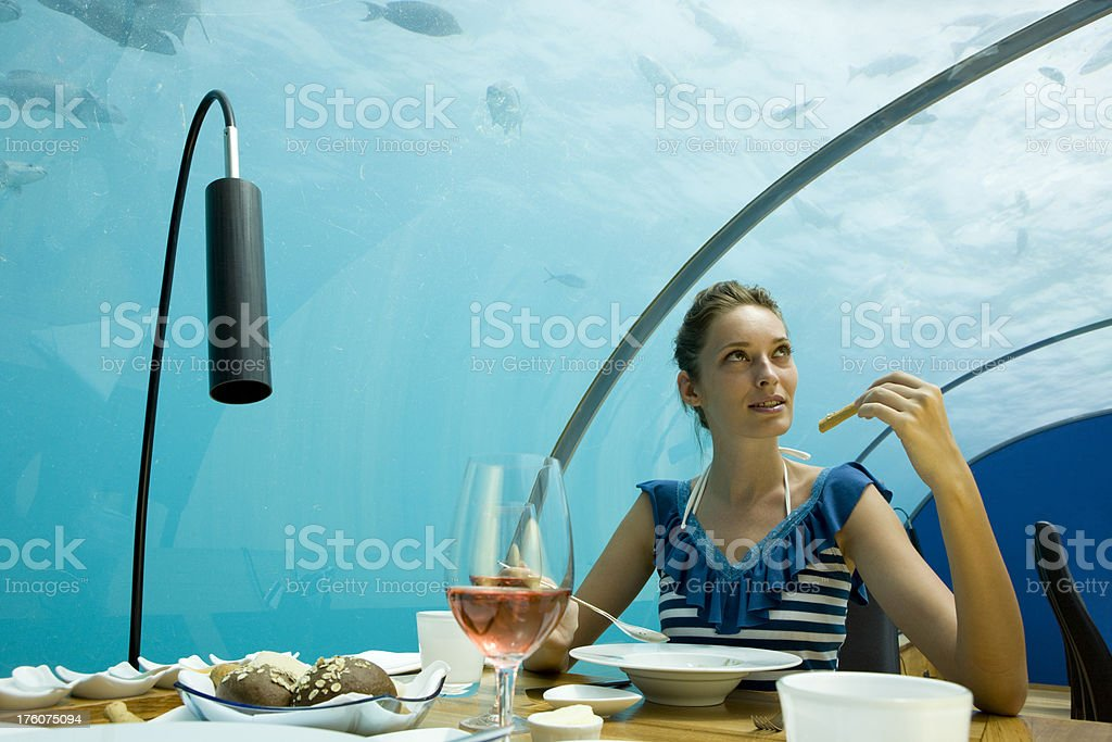 Underwater restaurant royalty-free stock photo
