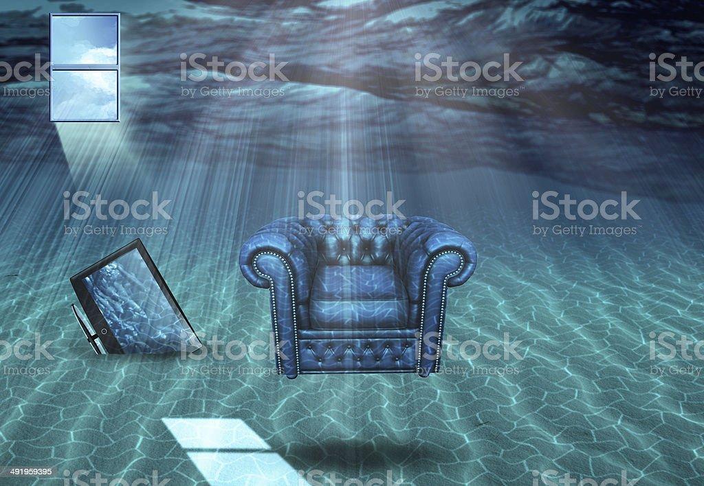 Underwater Room stock photo