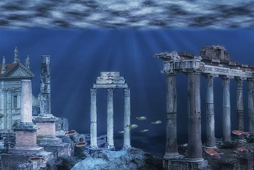 istock Underwater ruins 1138866203