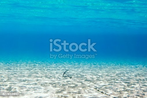 Underwater scene in tropical sandy beach, Koufonisi island, Crete, Greece.