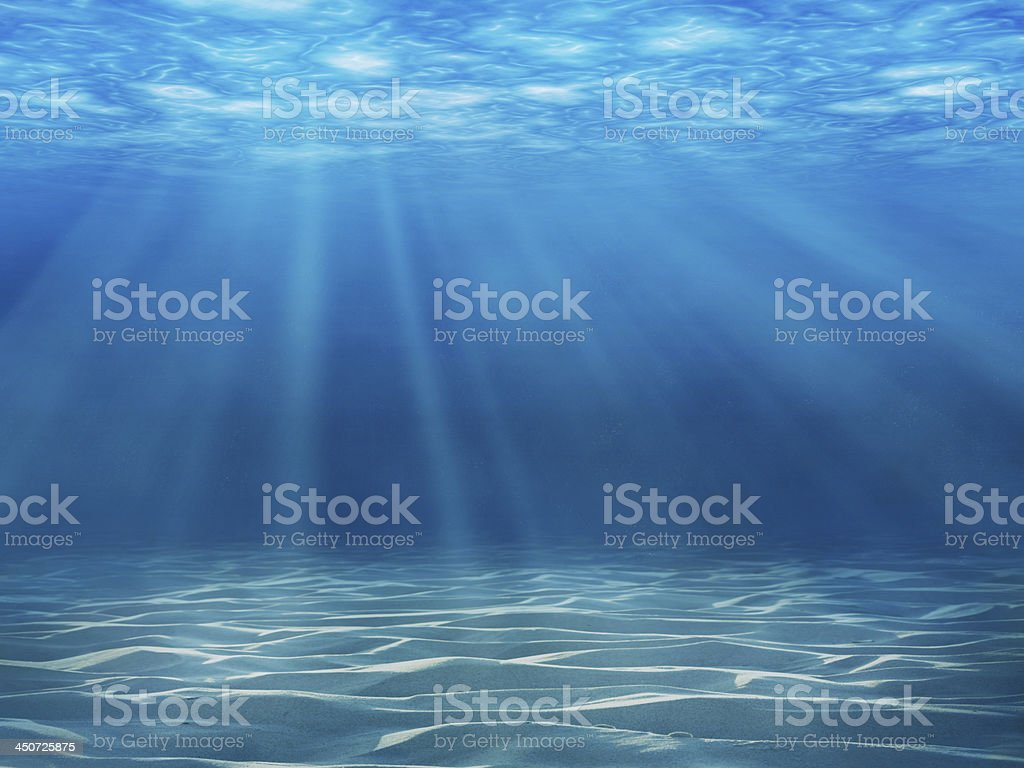 Underwater scene stock photo